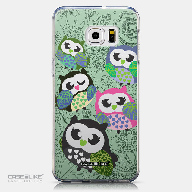 CASEiLIKE Samsung Galaxy S6 Edge Plus back cover Owl Graphic Design 3313