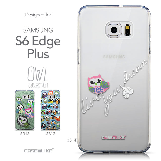 Collection - CASEiLIKE Samsung Galaxy S6 Edge Plus back cover Owl Graphic Design 3314