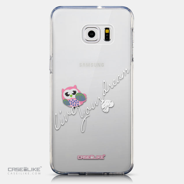 CASEiLIKE Samsung Galaxy S6 Edge Plus back cover Owl Graphic Design 3314