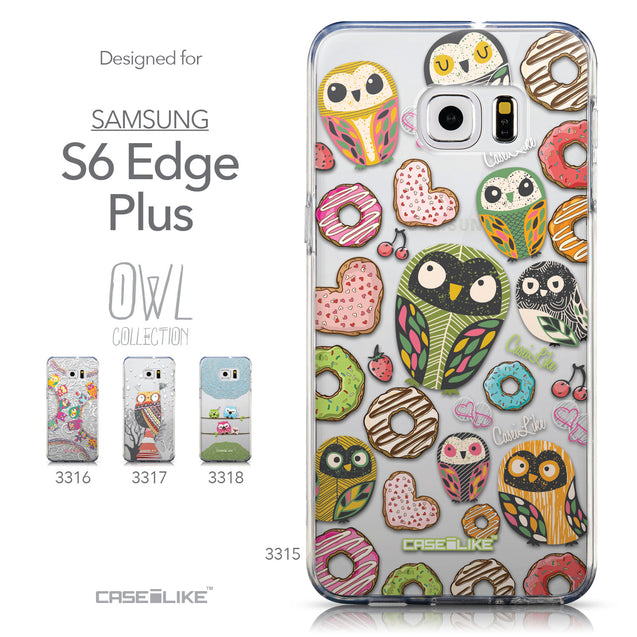 Collection - CASEiLIKE Samsung Galaxy S6 Edge Plus back cover Owl Graphic Design 3315