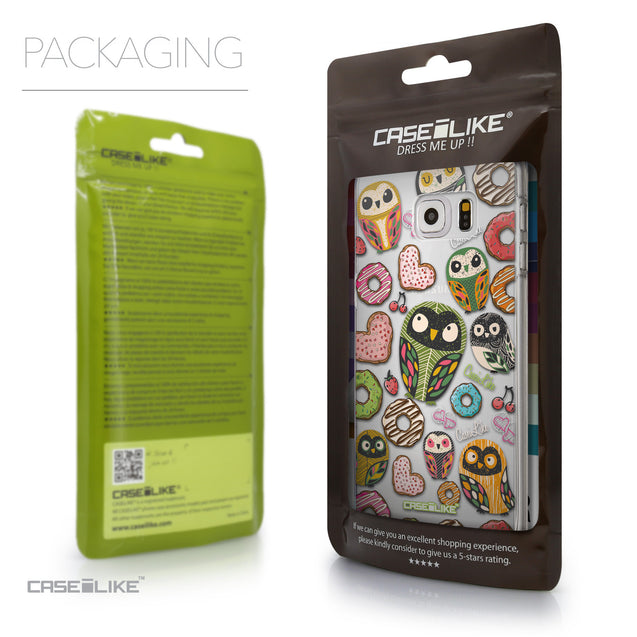 Packaging - CASEiLIKE Samsung Galaxy S6 Edge Plus back cover Owl Graphic Design 3315