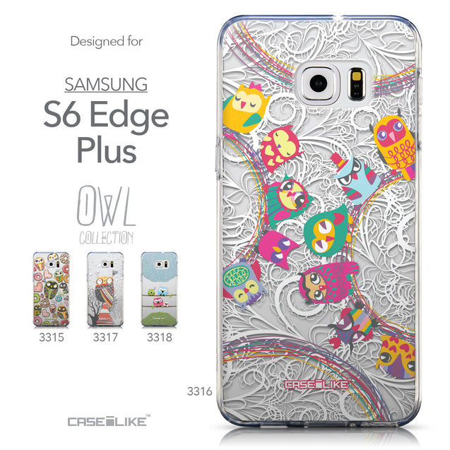 Collection - CASEiLIKE Samsung Galaxy S6 Edge Plus back cover Owl Graphic Design 3316