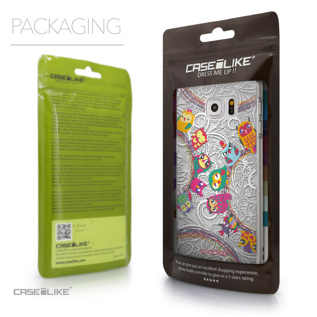 Packaging - CASEiLIKE Samsung Galaxy S6 Edge Plus back cover Owl Graphic Design 3316