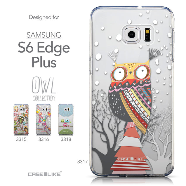 Collection - CASEiLIKE Samsung Galaxy S6 Edge Plus back cover Owl Graphic Design 3317