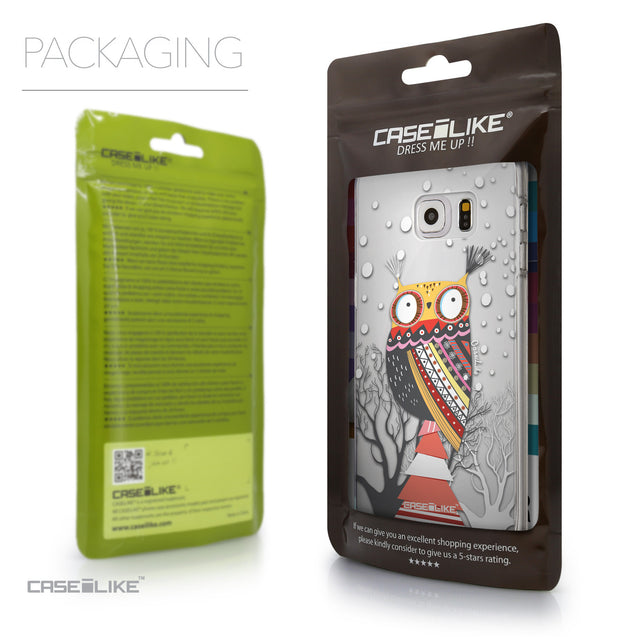 Packaging - CASEiLIKE Samsung Galaxy S6 Edge Plus back cover Owl Graphic Design 3317