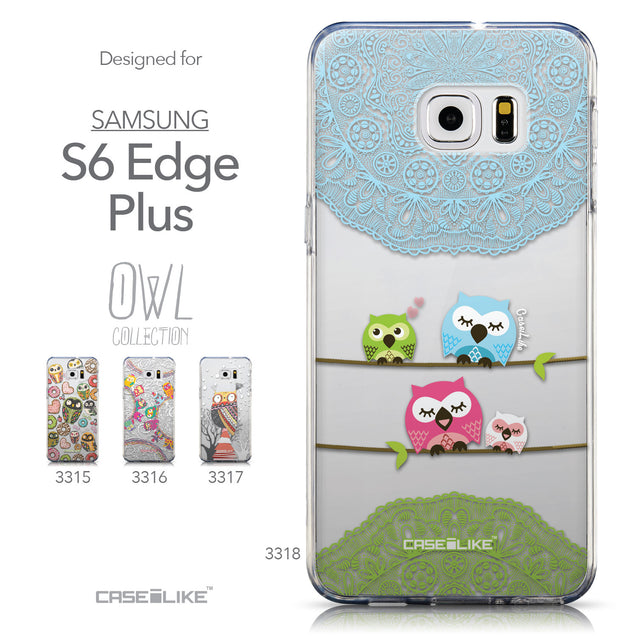 Collection - CASEiLIKE Samsung Galaxy S6 Edge Plus back cover Owl Graphic Design 3318
