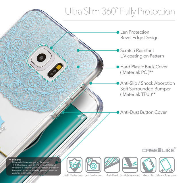 Details in English - CASEiLIKE Samsung Galaxy S6 Edge Plus back cover Owl Graphic Design 3318