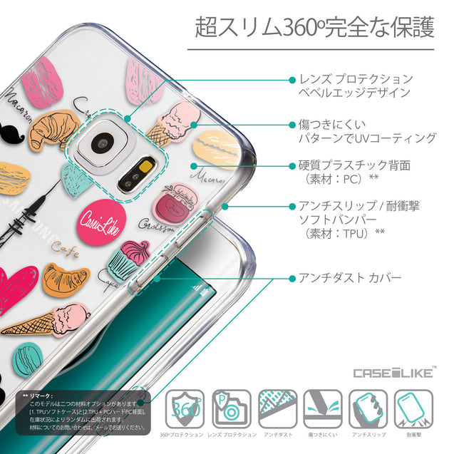 Details in Japanese - CASEiLIKE Samsung Galaxy S6 Edge Plus back cover Paris Holiday 3904