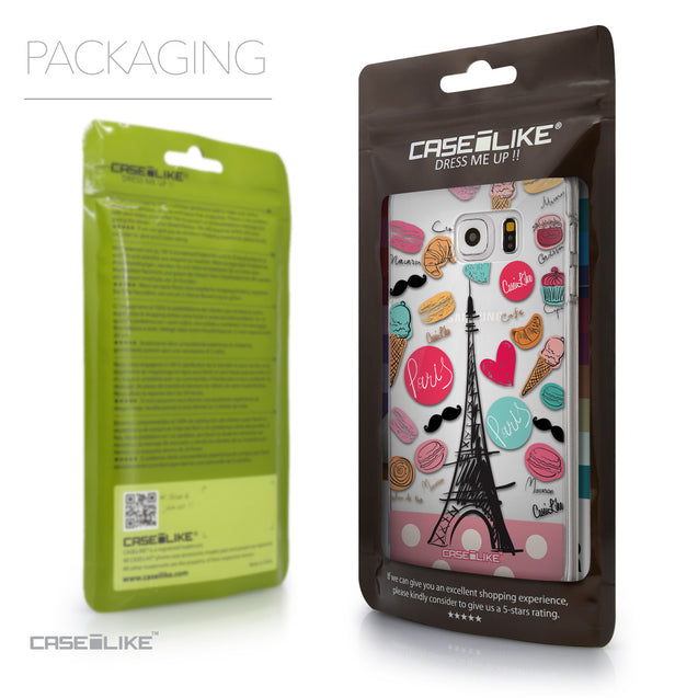 Packaging - CASEiLIKE Samsung Galaxy S6 Edge Plus back cover Paris Holiday 3904