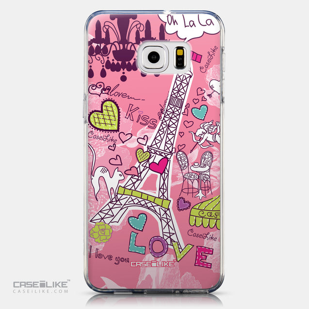CASEiLIKE Samsung Galaxy S6 Edge Plus back cover Paris Holiday 3905