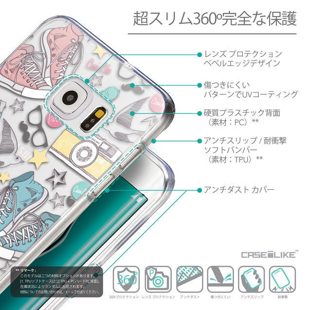 Details in Japanese - CASEiLIKE Samsung Galaxy S6 Edge Plus back cover Paris Holiday 3906
