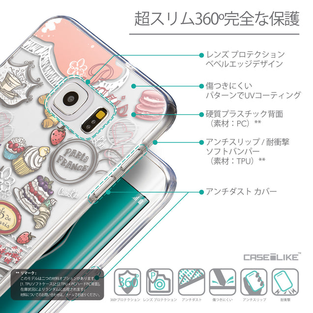 Details in Japanese - CASEiLIKE Samsung Galaxy S6 Edge Plus back cover Paris Holiday 3907