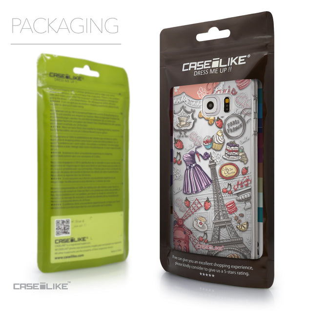 Packaging - CASEiLIKE Samsung Galaxy S6 Edge Plus back cover Paris Holiday 3907