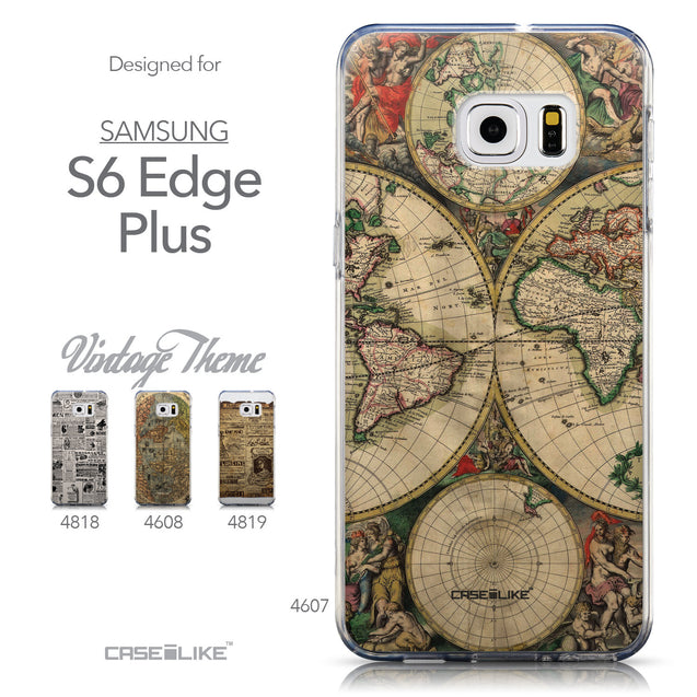 Collection - CASEiLIKE Samsung Galaxy S6 Edge Plus back cover World Map Vintage 4607
