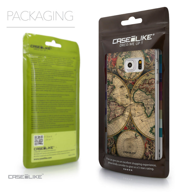 Packaging - CASEiLIKE Samsung Galaxy S6 Edge Plus back cover World Map Vintage 4607