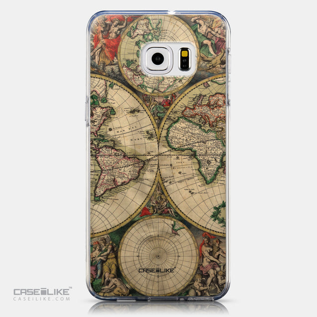 CASEiLIKE Samsung Galaxy S6 Edge Plus back cover World Map Vintage 4607