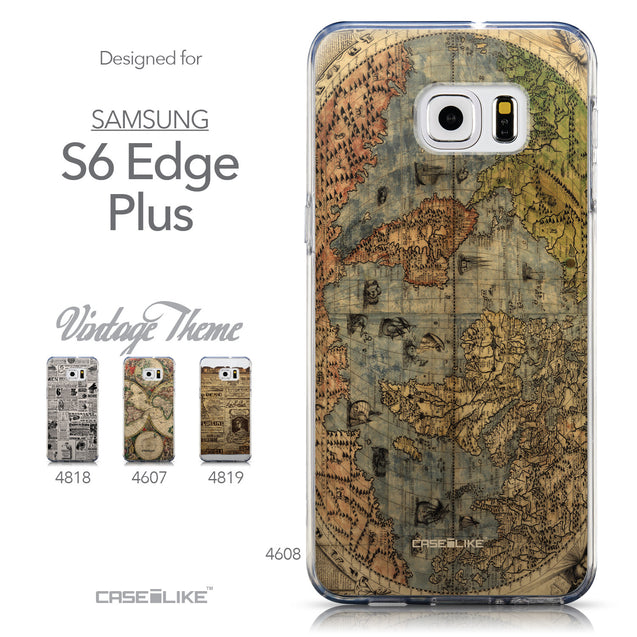 Collection - CASEiLIKE Samsung Galaxy S6 Edge Plus back cover World Map Vintage 4608