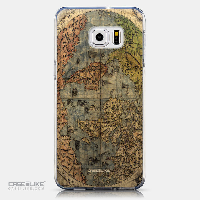 CASEiLIKE Samsung Galaxy S6 Edge Plus back cover World Map Vintage 4608