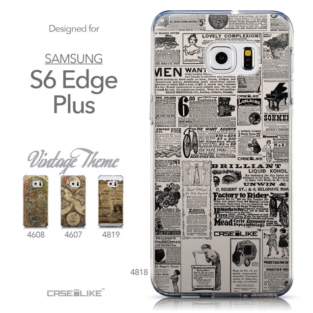 Collection - CASEiLIKE Samsung Galaxy S6 Edge Plus back cover Vintage Newspaper Advertising 4818