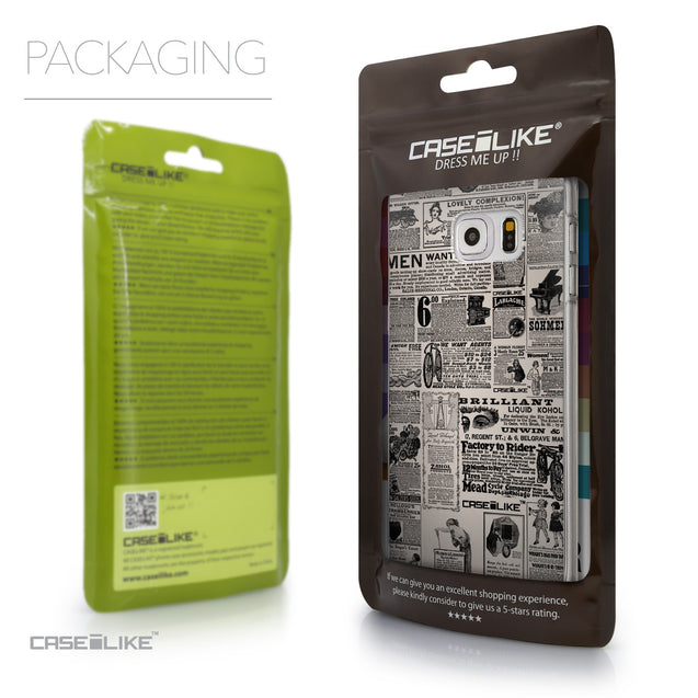 Packaging - CASEiLIKE Samsung Galaxy S6 Edge Plus back cover Vintage Newspaper Advertising 4818