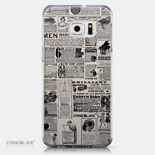CASEiLIKE Samsung Galaxy S6 Edge Plus back cover Vintage Newspaper Advertising 4818