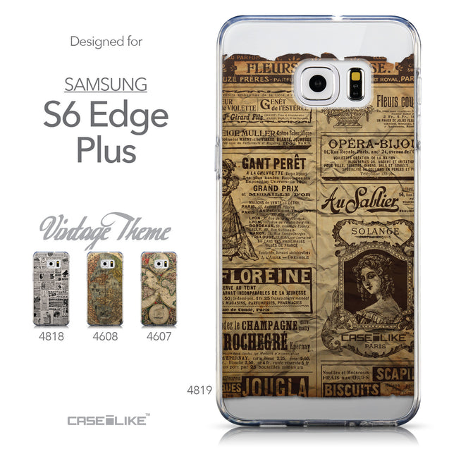 Collection - CASEiLIKE Samsung Galaxy S6 Edge Plus back cover Vintage Newspaper Advertising 4819