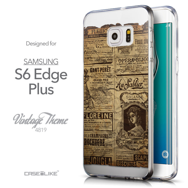 Front & Side View - CASEiLIKE Samsung Galaxy S6 Edge Plus back cover Vintage Newspaper Advertising 4819