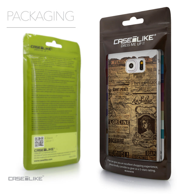 Packaging - CASEiLIKE Samsung Galaxy S6 Edge Plus back cover Vintage Newspaper Advertising 4819