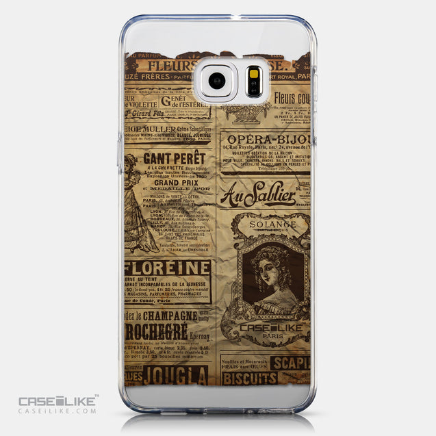 CASEiLIKE Samsung Galaxy S6 Edge Plus back cover Vintage Newspaper Advertising 4819