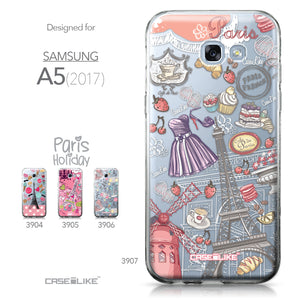 Samsung Galaxy A5 (2017) case Paris Holiday 3907 Collection | CASEiLIKE.com