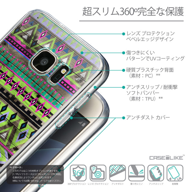 Details in Japanese - CASEiLIKE Samsung Galaxy S7 back cover Indian Tribal Theme Pattern 2049