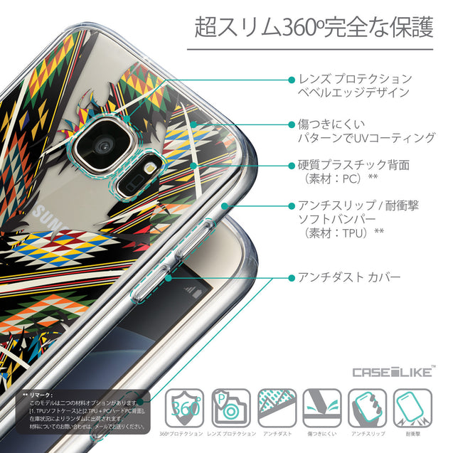 Details in Japanese - CASEiLIKE Samsung Galaxy S7 back cover Indian Tribal Theme Pattern 2053