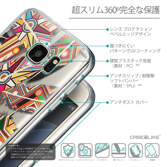 Details in Japanese - CASEiLIKE Samsung Galaxy S7 back cover Indian Tribal Theme Pattern 2054