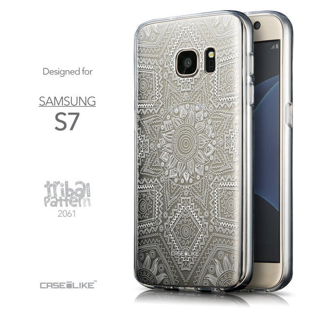 Front & Side View - CASEiLIKE Samsung Galaxy S7 back cover Indian Line Art 2061