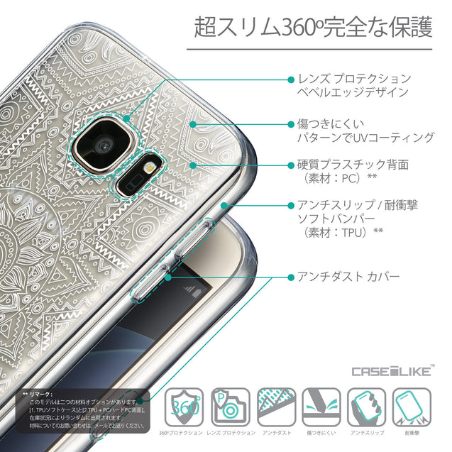 Details in Japanese - CASEiLIKE Samsung Galaxy S7 back cover Indian Line Art 2061