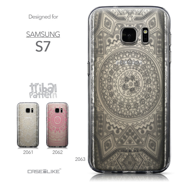 Collection - CASEiLIKE Samsung Galaxy S7 back cover Indian Line Art 2063
