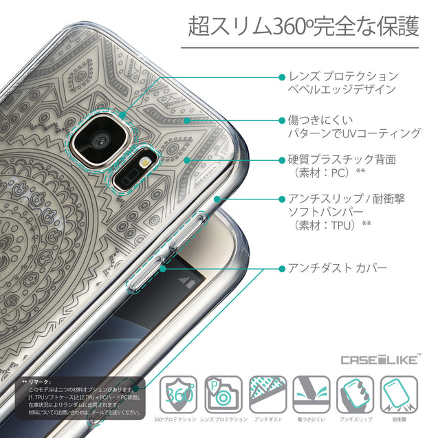 Details in Japanese - CASEiLIKE Samsung Galaxy S7 back cover Indian Line Art 2063