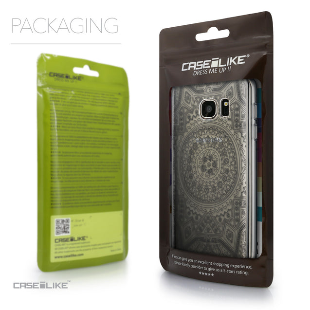 Packaging - CASEiLIKE Samsung Galaxy S7 back cover Indian Line Art 2063