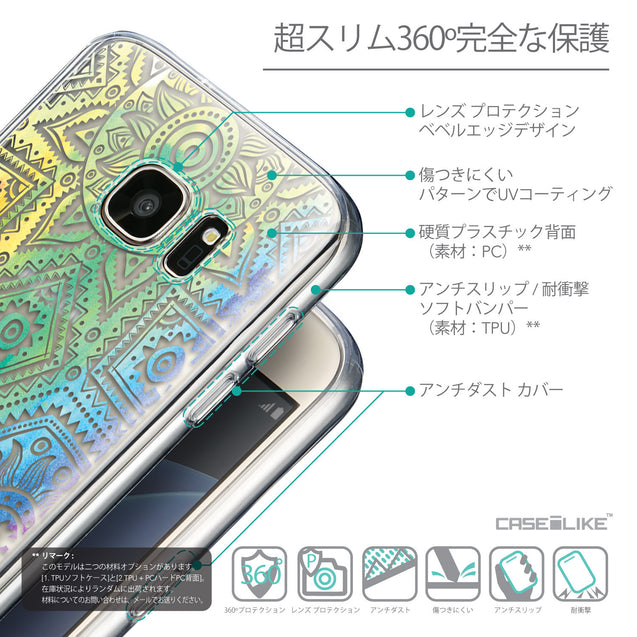 Details in Japanese - CASEiLIKE Samsung Galaxy S7 back cover Indian Line Art 2064