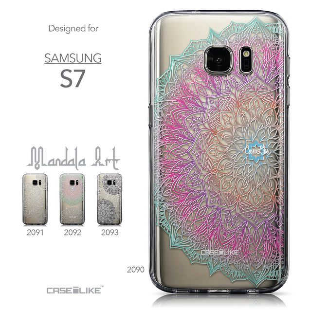 Collection - CASEiLIKE Samsung Galaxy S7 back cover Mandala Art 2090