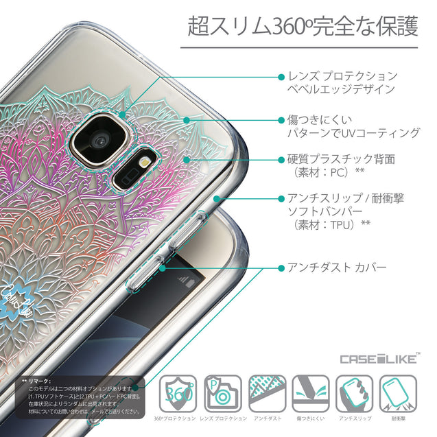 Details in Japanese - CASEiLIKE Samsung Galaxy S7 back cover Mandala Art 2090