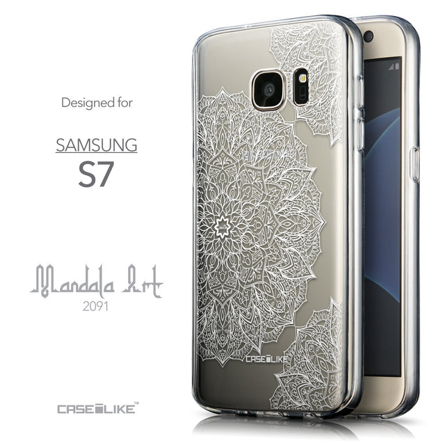 Front & Side View - CASEiLIKE Samsung Galaxy S7 back cover Mandala Art 2091