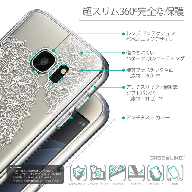 Details in Japanese - CASEiLIKE Samsung Galaxy S7 back cover Mandala Art 2091