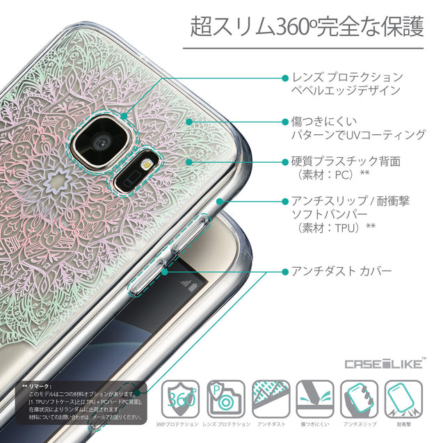 Details in Japanese - CASEiLIKE Samsung Galaxy S7 back cover Mandala Art 2092