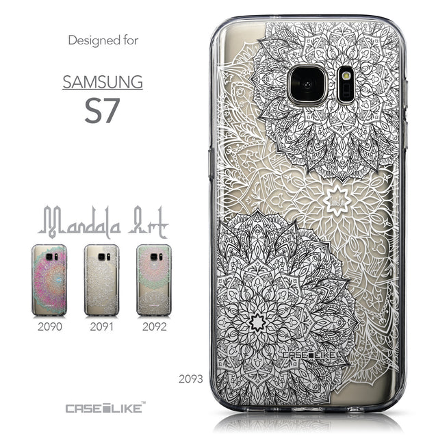 Collection - CASEiLIKE Samsung Galaxy S7 back cover Mandala Art 2093