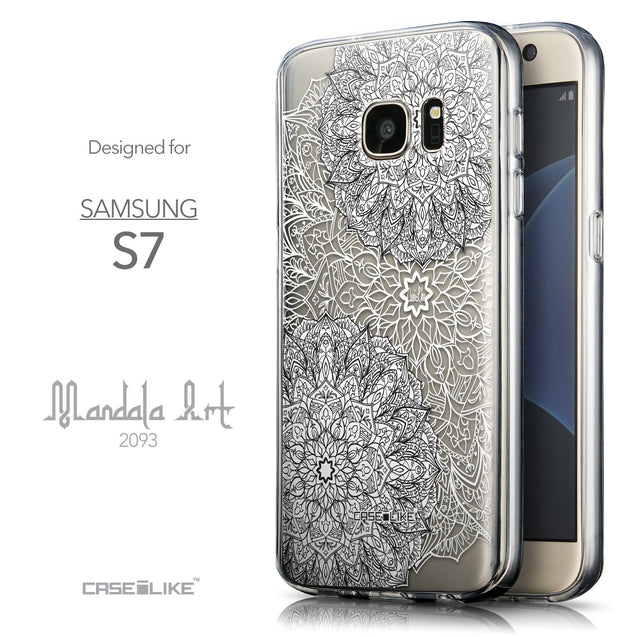 Front & Side View - CASEiLIKE Samsung Galaxy S7 back cover Mandala Art 2093