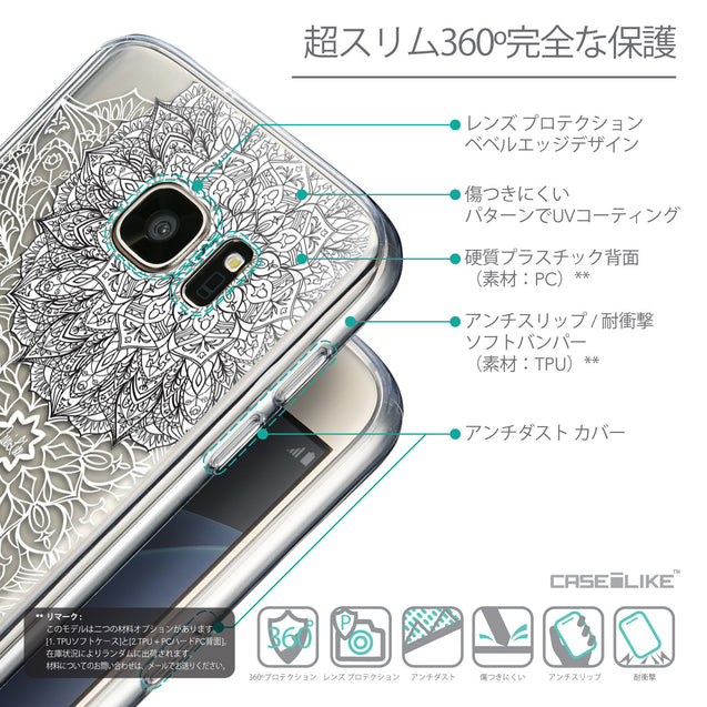 Details in Japanese - CASEiLIKE Samsung Galaxy S7 back cover Mandala Art 2093