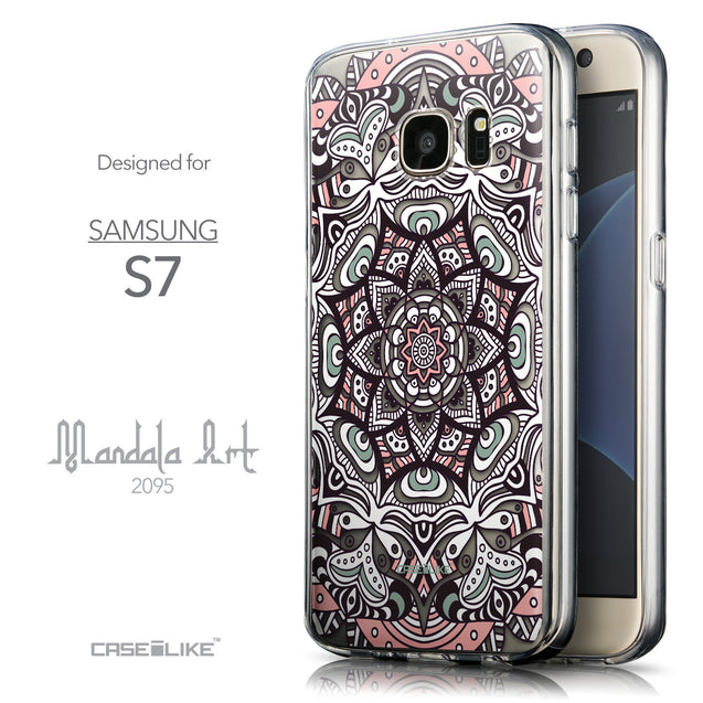 Front & Side View - CASEiLIKE Samsung Galaxy S7 back cover Mandala Art 2095