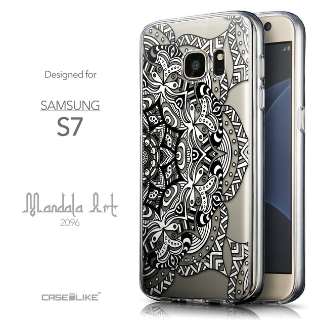 Front & Side View - CASEiLIKE Samsung Galaxy S7 back cover Mandala Art 2096
