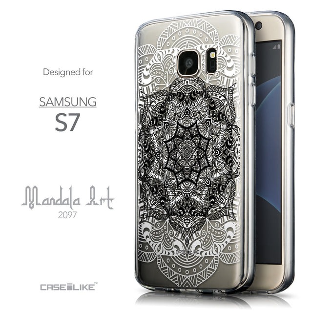 Front & Side View - CASEiLIKE Samsung Galaxy S7 back cover Mandala Art 2097